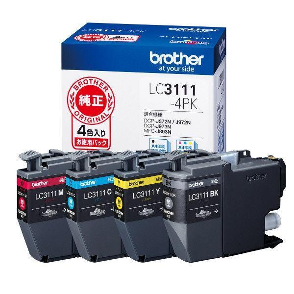 ブラザー 純正 インクカートリッジ LC3111-4PK 1パック(4色入) LC3111シリーズ