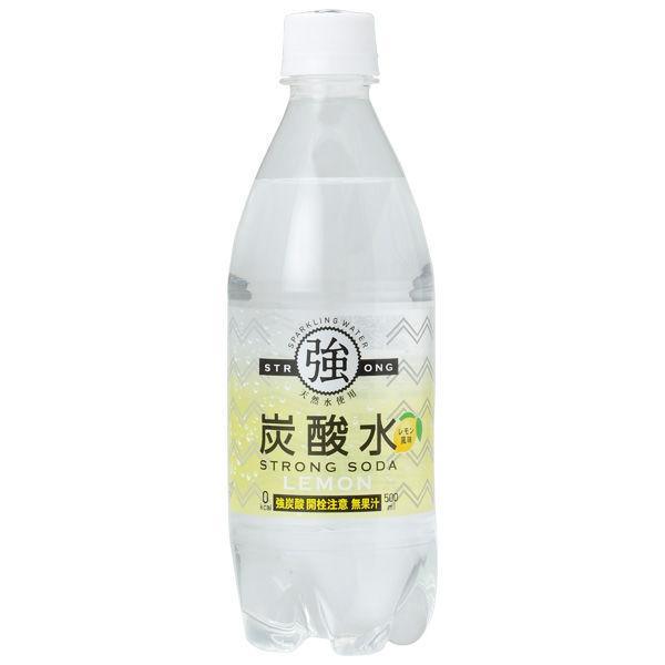 友桝飲料 強炭酸水 レモン 500ml 1セット(6本)
