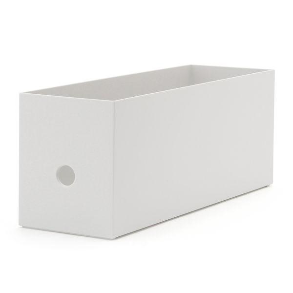 無印良品 ポリプロピレンファイルボックス・スタンダードタイプ・ホワイトグレー・1/2 約幅10×奥行32×高さ12cm 38996446 良品計画