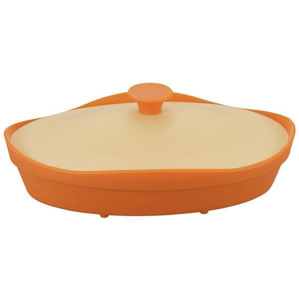 シリコンスチーマー オレンジ オーバル型 電子レンジ調理 fleur フルール 1個 シービージャパン