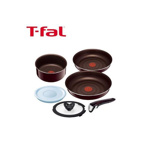 T-fal(ティファール)インジニオ・ネオ マホガニー・プレミア セット6 フライパン 鍋 取っ手のとれる 6点セット ガス火専用