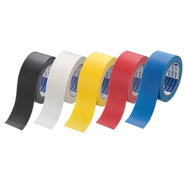 古藤工業 カラー布テープ Monf 布粘着テープ No.890カラー 0.22mm厚 5色(黒/白/黄/赤/青) 幅50mm×長さ25m巻 1パック(5巻入)