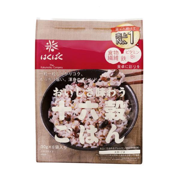 はくばく 十六穀ごはん 30g×6 1袋 パックごはん 包装米飯