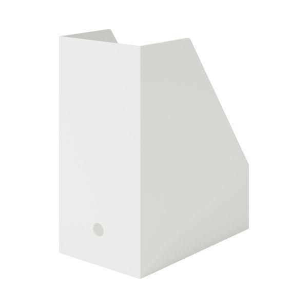 無印良品 ポリプロピレンスタンドファイルボックス・ワイド・A4用・ホワイトグレー 約幅15×奥行27.6×高さ31.8cm 38907565 良品計画