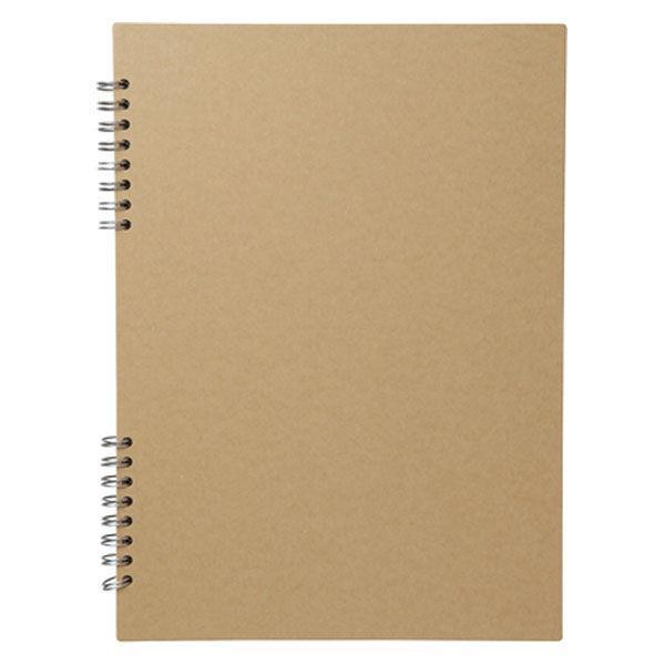 無印良品 クラフトダブルリング記録帳 A4・20枚 本文・約297×210mm 良品計画