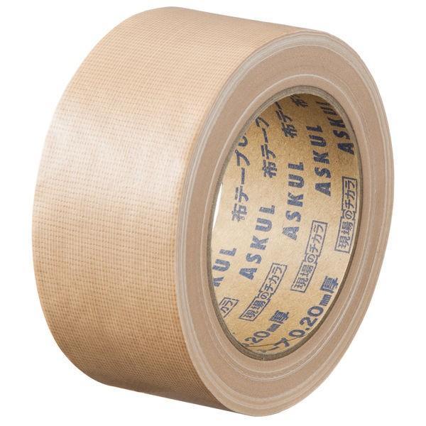 【ガムテープ】「現場のチカラ」 布テープ 0.20mm厚 50mm×25m 茶 アスクル 1巻 オリジナル