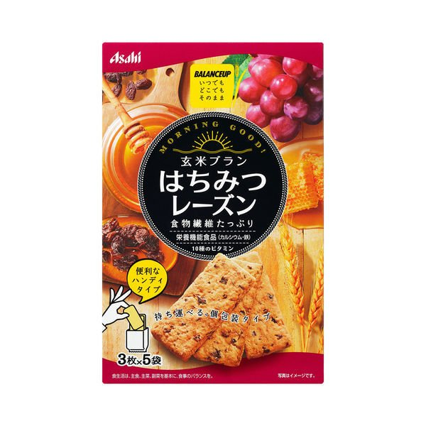 バランスアップ 玄米ブラン はちみつレーズン 1箱(3枚×5袋入) アサヒグループ食品 その他 シリアル