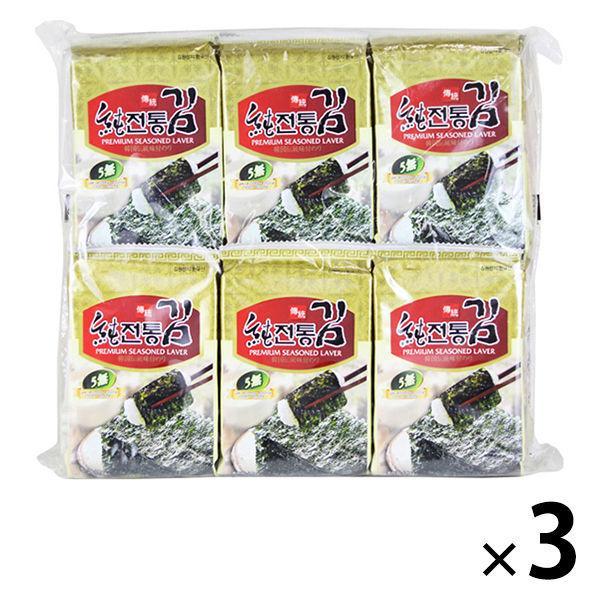 カルディコーヒーファーム〈オーバーシーズ〉 ソチョン 伝統韓国のり (8枚×12p入)1セット(3袋) 韓国海苔