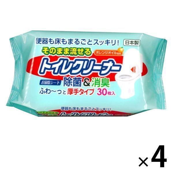 【アウトレット】グレートアンドグランド 流せるトイレクリーナーオレンジオイル配合 1セット(4個:1個×4)