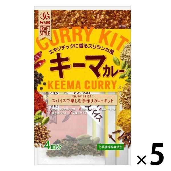 手作りカレーキット キーマカレー 化学調味料無添加 クラフトスタイル 1セット(5個) エスビー食品