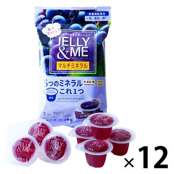 北辰フーズ JELLY&ME マルチミネラル巨峰ゼリー JM-K 12袋 ゼリー 洋菓子 マルチミネラル