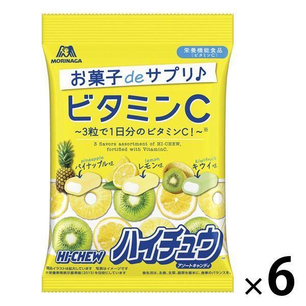 ビタミンCハイチュウアソート 6袋 森永製菓 キャンディ お菓子