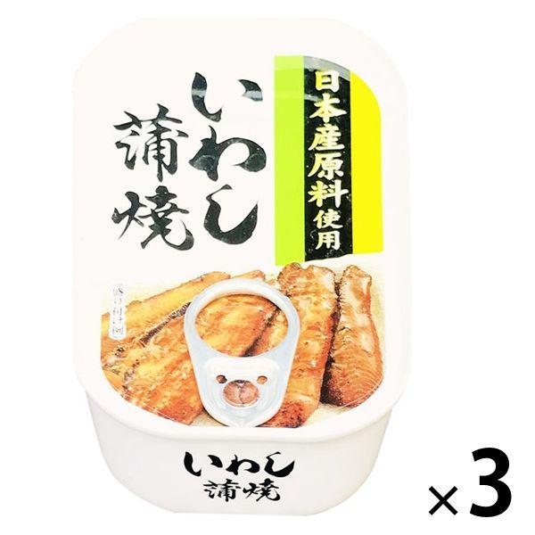 【アウトレット】いわし蒲焼<国産いわし使用> 100g 1セット(3缶) タイランドフィッシャリージャパン