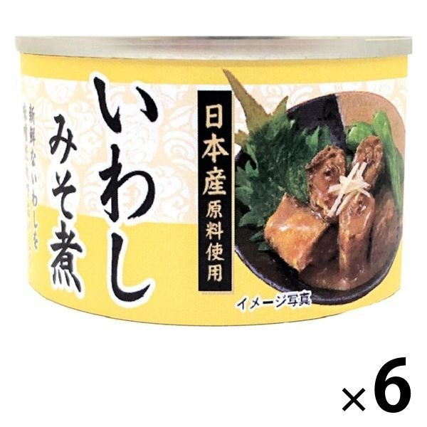 【アウトレット】いわしみそ煮<国産いわし使用> 150g 1セット(6缶) タイランドフィッシャリージャパン