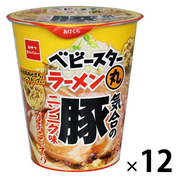 【アウトレット】おやつカンパニー ラーメン丸豚ニンニク味59g 1セット(12個)
