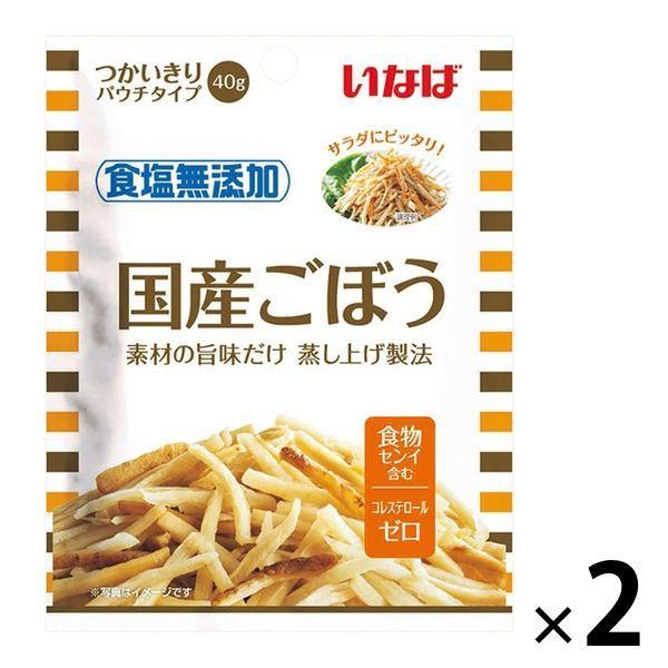素材パウチ いなば食品 食塩無添加 国産ごぼう 40g 1セット(2袋)