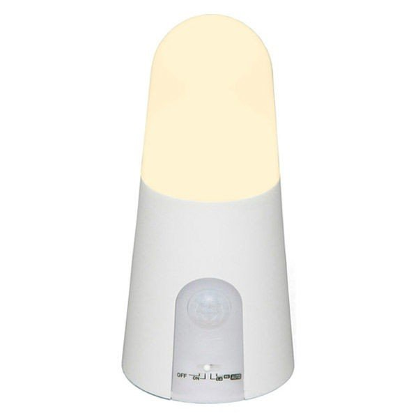 アイリスオーヤマ 乾電池式LEDセンサーライト スタンドタイプ 電球色 BSL40SL-WV2(522484) 1個