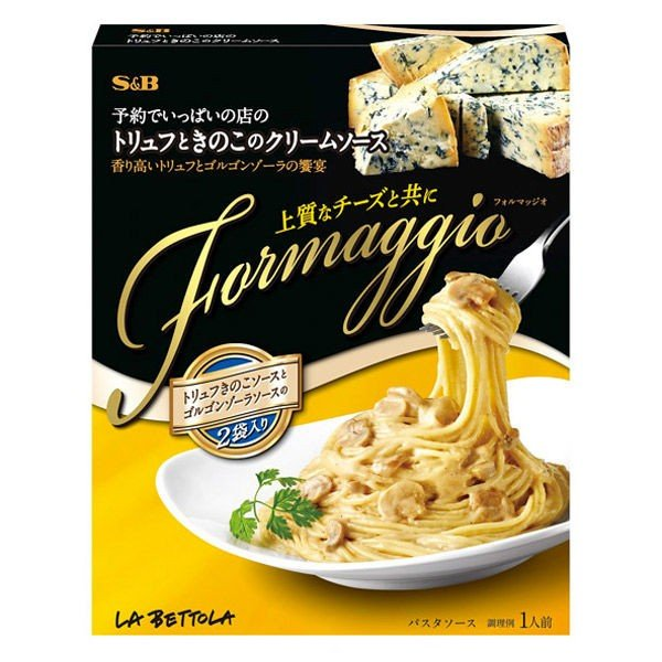 エスビー食品 予約でいっぱいの店の Formaggio トリュフときのこのクリームソース 1個
