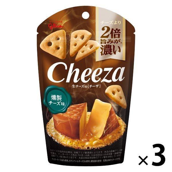 江崎グリコ 生チーズのチーザ<燻製チーズ味> 1セット(3個)