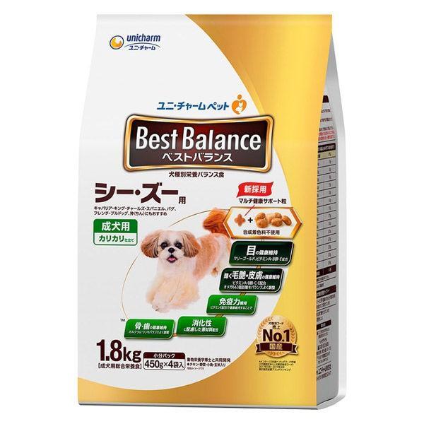 ベストバランスドッグフードカリカリ仕立て成犬シーズー用1.8kg(450g×4袋入)国産1袋ユニ・チャーム