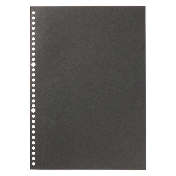 無印良品 ノート型はがせるルーズリーフ A4・6mm横罫・30穴・50枚・黒 82207378 良品計画
