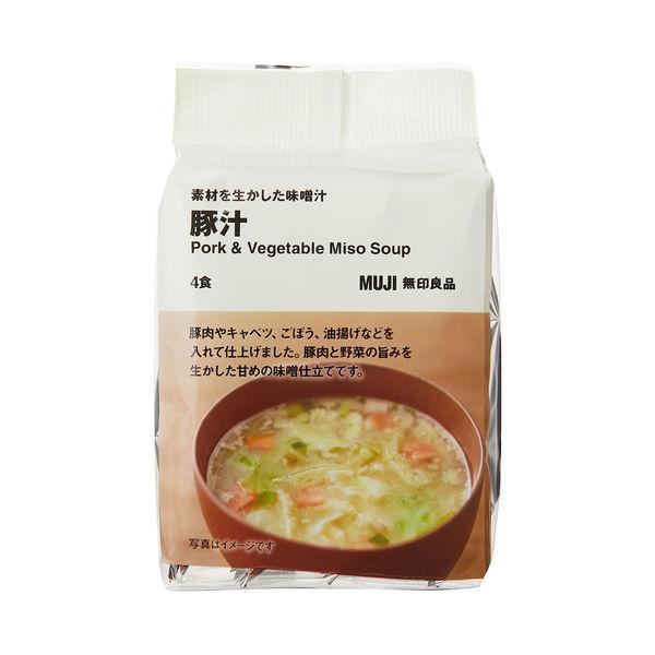 無印良品食べるスープ豚汁1袋(4食分)良品計画