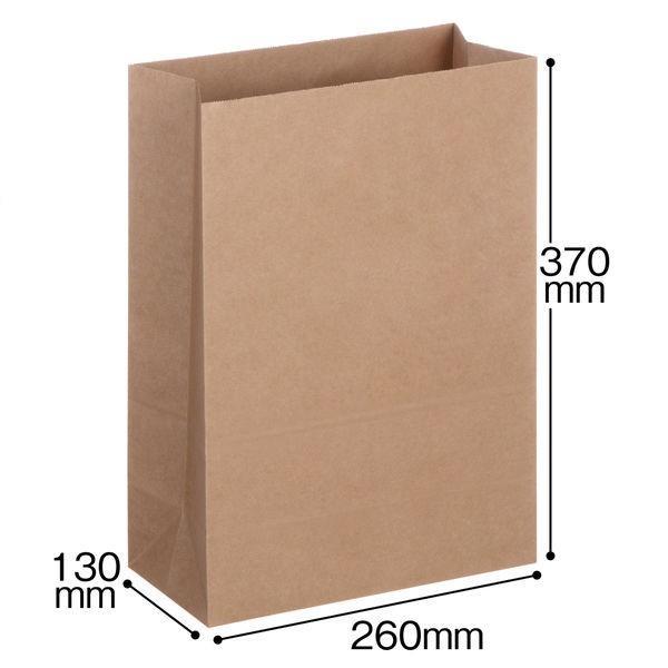 「現場のチカラ」 アスクル フラップなし宅配袋(紙製) 茶 小・マチ広サイズ 封かんシールなし 1パック(10枚入) オリジナル