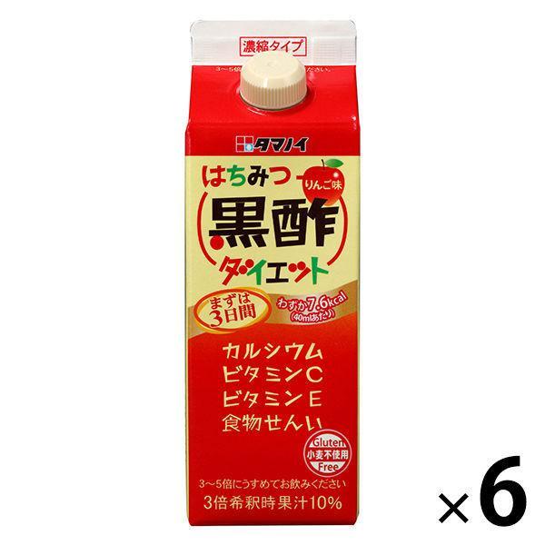 タマノイ はちみつ黒酢ダイエット濃縮タイプ 500ml 1セット(6本)