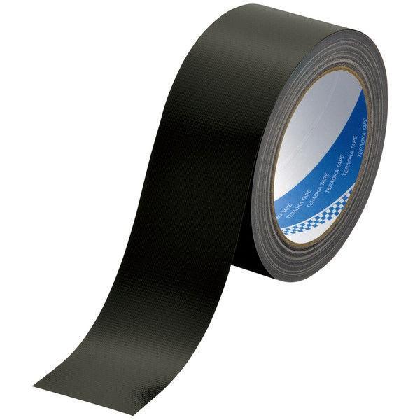 【ガムテープ】包装用 布テープ No.1535 0.20mm厚  50mm×25m 黒 寺岡製作所 1セット(5巻入)