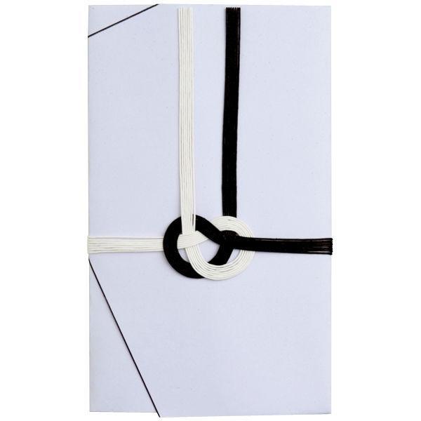 今村紙工 香典袋 大阪折黒白 不祝儀袋 5111-5 30枚(5枚×6袋)