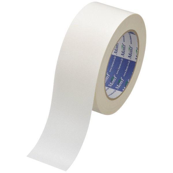 古藤工業 カラー布テープ Monf Monf 布粘着テープ No.890カラー 0.22mm厚 白 幅50mm×長さ25m巻 1巻