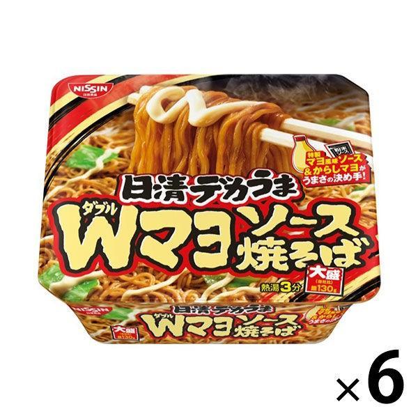 日清食品 日清デカうま Wマヨソース焼そば 6個