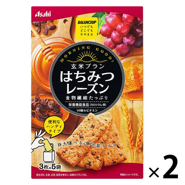 バランスアップ 玄米ブラン はちみつレーズン 1セット(2箱) アサヒグループ食品 その他 シリアル