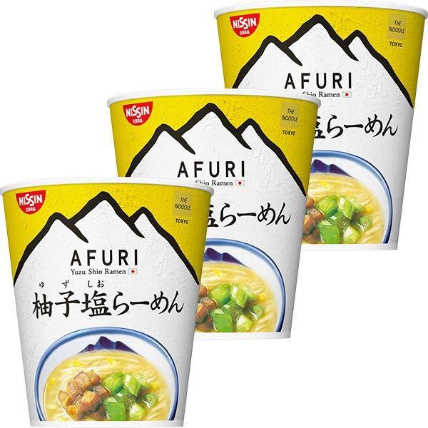 日清食品 日清THENOODLETOKYOAFURI柚子塩らーめんmini 3個