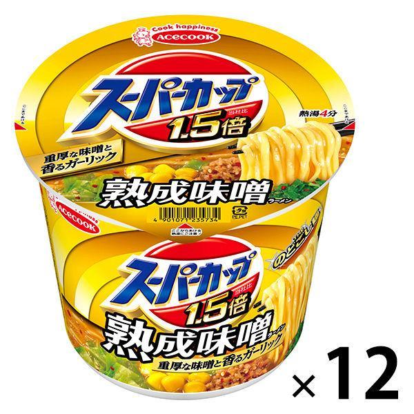 エースコック スーパーカップMAX みそラーメン 138g 12個 カップ麺