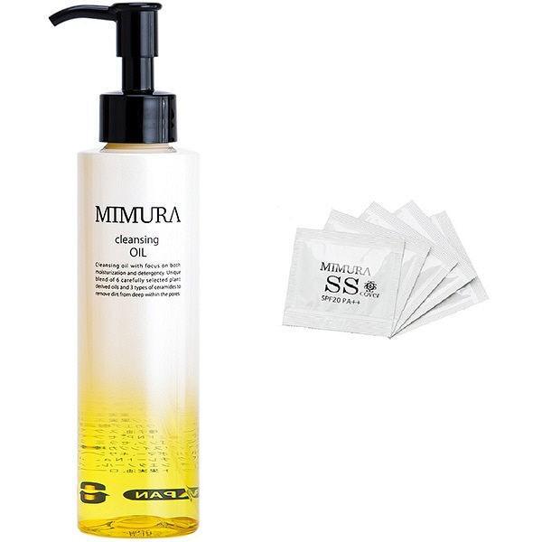 ミムラ MIMURA(ミムラ) 【限定品】クレンジングオイル SSカバー試供品5個セット 本体 150mL+SSカバー試供品5包の画像