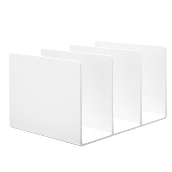 無印良品 スチロール仕切りスタンド・ホワイトグレー 3仕切・大・約270×210×160mm 02856410 良品計画
