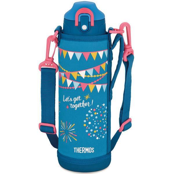 【アウトレット】サーモス THERMOS 水筒 真空断熱2ウェイボトル 1リットル ブルーフラッグ 1個 FHO-1001WF BL-F 子供 ECO