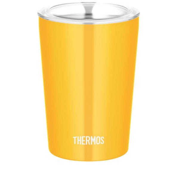 【アウトレット】サーモス(THERMOS) 保冷・保温 ストローカップ オレンジ JDJ-300 OR 1個 真空断熱 蓋付きタンブラー  ECO
