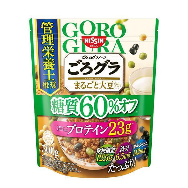 日清シスコ ごろっとグラノーラ まるごと大豆 糖質60%オフ 360g 1袋 シリアル・フレーク シリアル