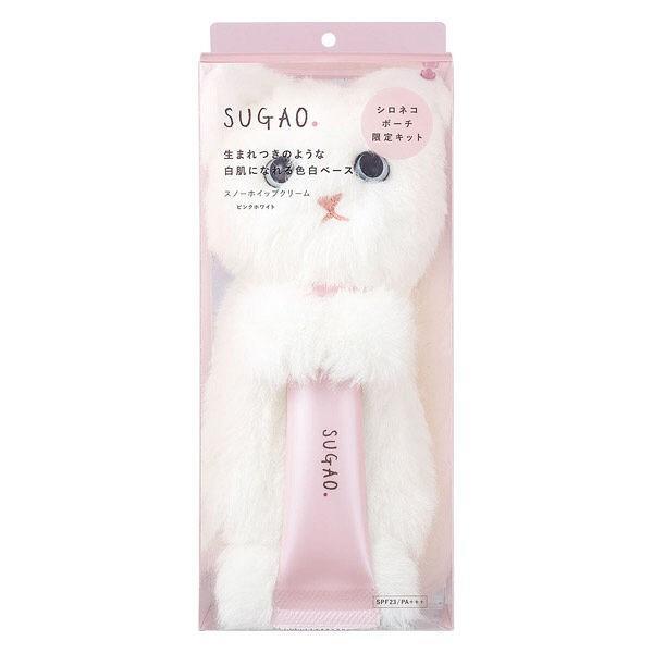 RoomClip商品情報 - 数量限定SUGAO(スガオ) スノーホイップクリーム ピンクホワイト 25g +シロネコぬいぐるみ付き ロート製薬
