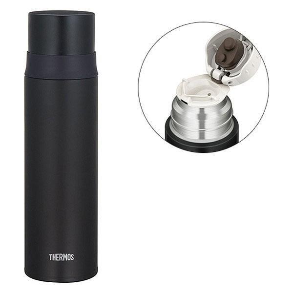 サーモス(THERMOS)水筒ステンレススリムボトル500mlマットブラックFFM-501MTBKワンタッチボトル