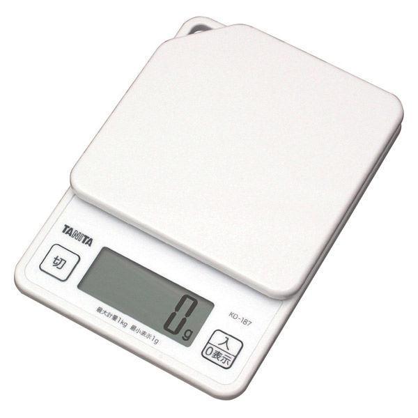タニタ(TANITA) キッチンスケール ホワイト KD-187-WH 計量器 クッキングスケール