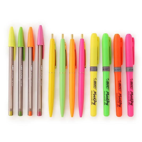 ロハコ限定ボールペンセット ネオン(クリックゴールド4本+単色ボールペン4色+蛍光ペン4色) LHASSET12 BICジャパン