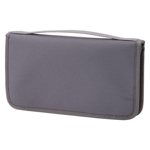 無印良品 ポリエステルパスポートケース・クリアポケット付 (新)グレー・約23.5×13×2.5cm 良品計画