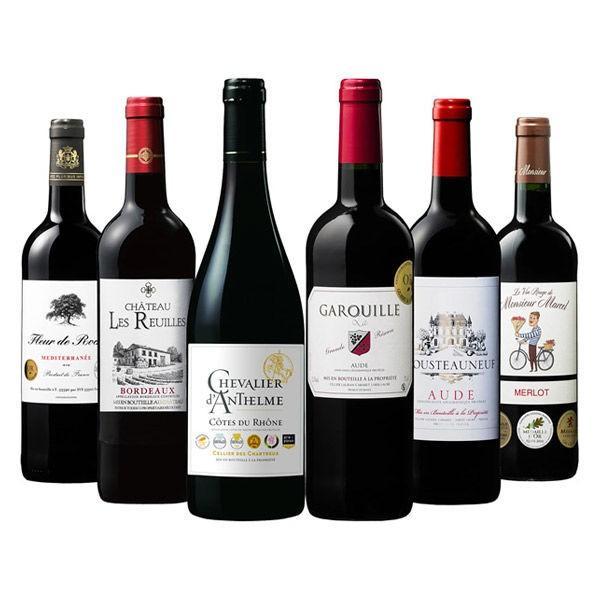 受賞の嵐 総メダル数14個フランス金賞 1セット(6本入) ベルーナ  ワインセット 赤ワインセット