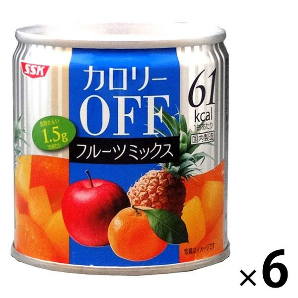 清水食品 カロリーOFF フルーツミックス 6缶