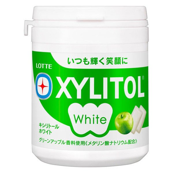 ロッテ キシリトールホワイト<グリーンアップル>ファミリーボトル 1個 ガム お菓子