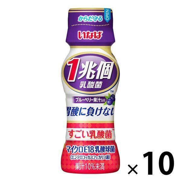 いなば食品 1兆個 すごい乳酸菌ドリンクブルーベリー果汁入り 10本