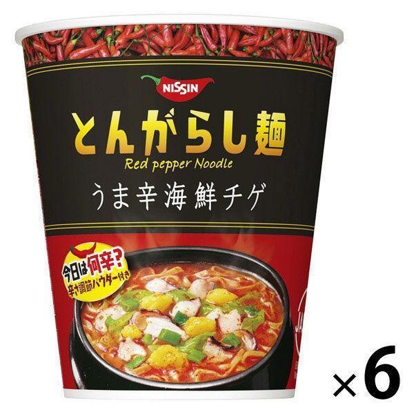 日清食品日清のとんがらし麺うま辛海鮮チゲ6食